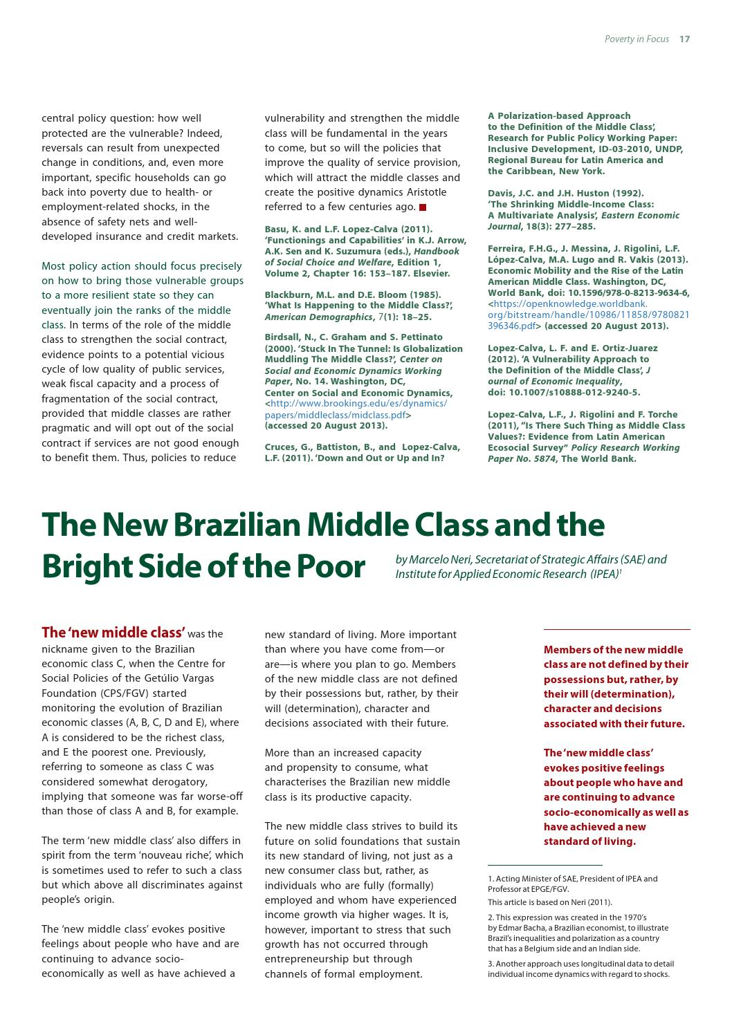 Poverty in Focus No  26 -- On the Middle Class by