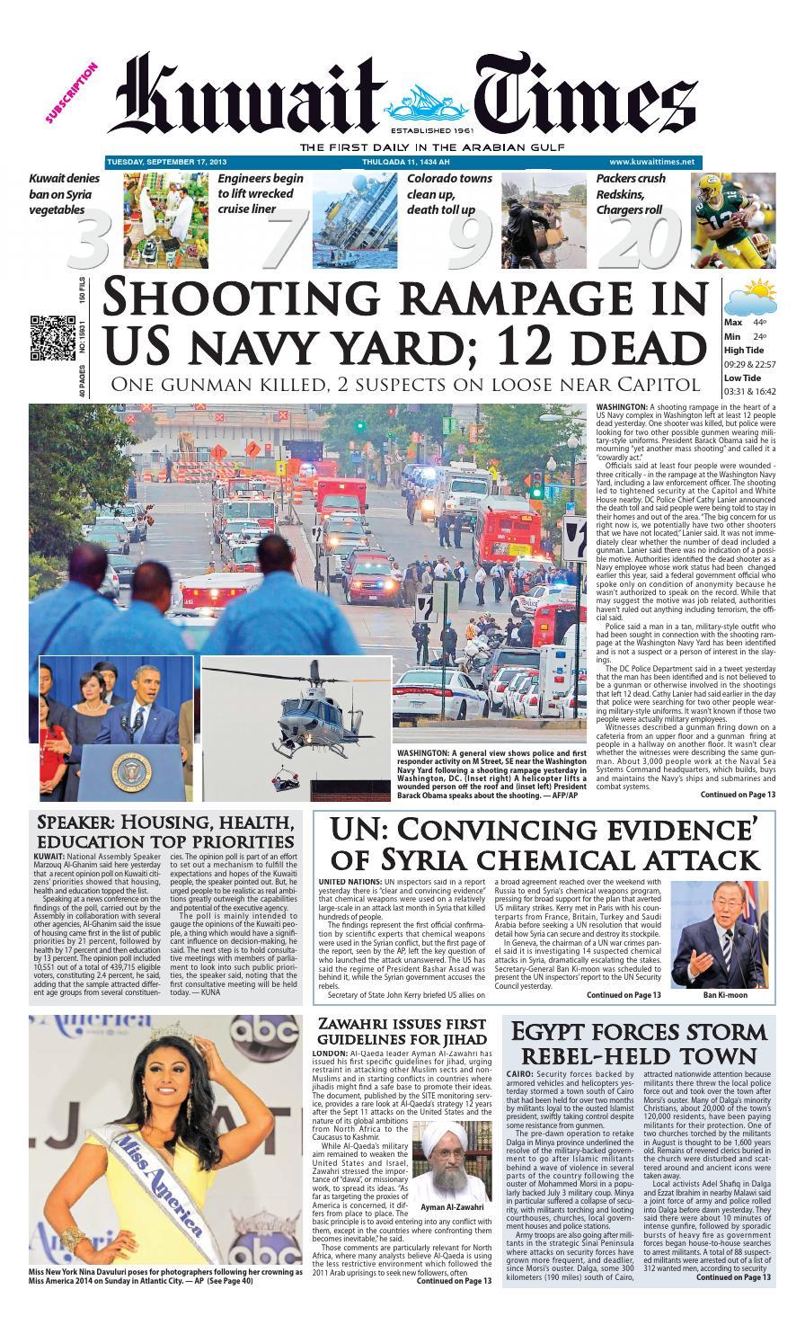 17th Sep by Kuwait Times - issuu 5c2c3870c