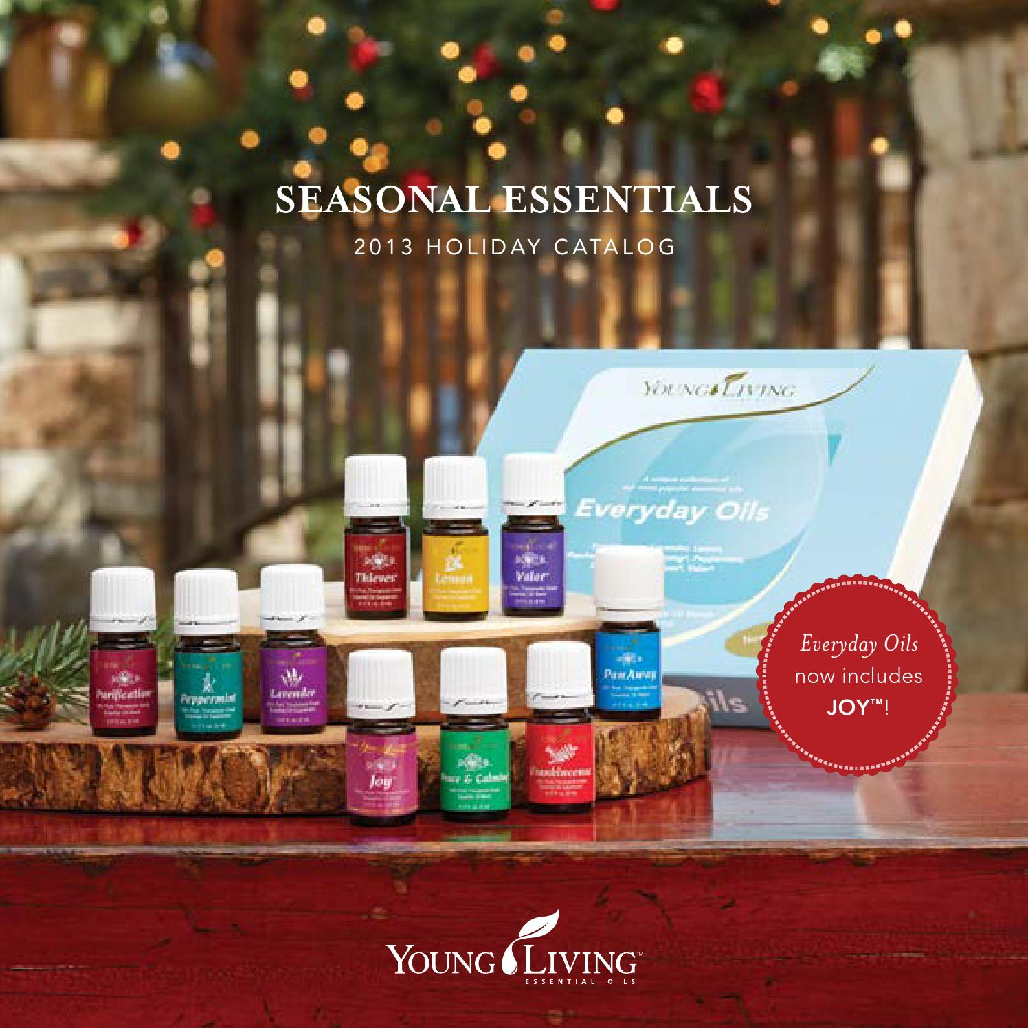 Home Goods Catalog Companies: 2013 Holiday Catalog US By Young Living Essential Oils
