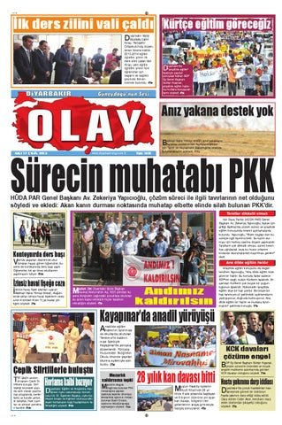 17 09 2013 Gazete Sayfalari By Diyarbakir Olaygazetesi Issuu
