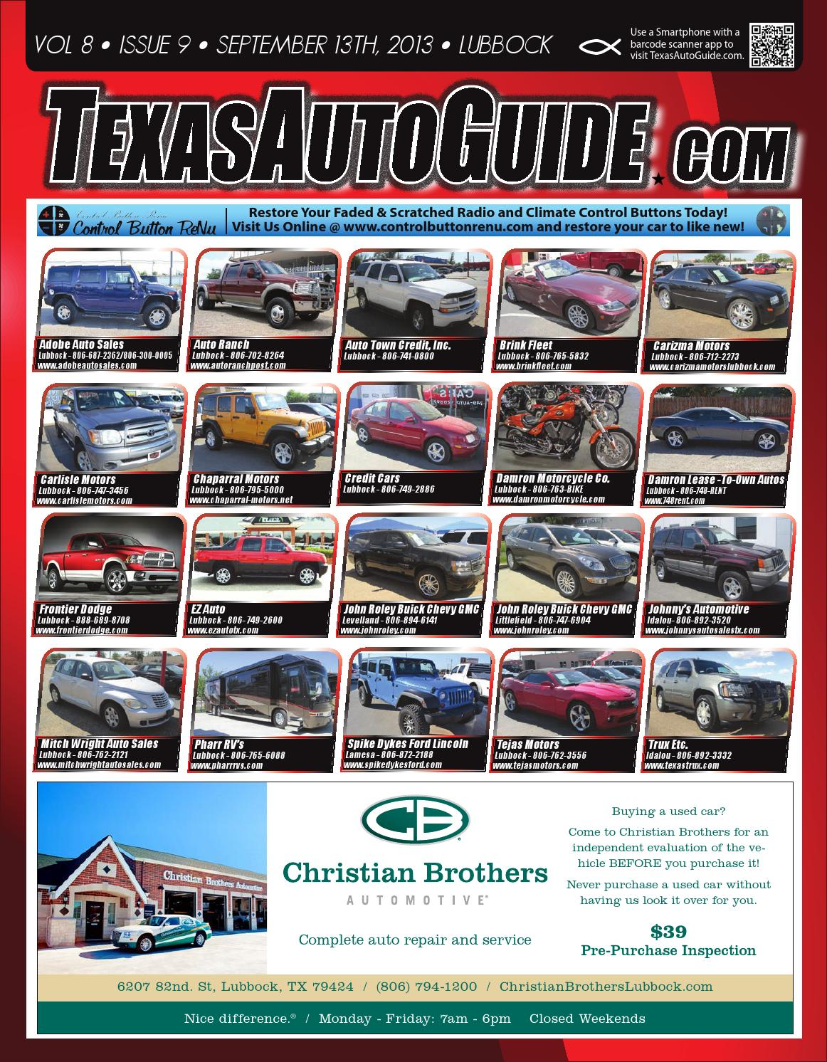 Car Dealerships In Lubbock Tx >> Texas Auto Guide Lubbock September 13th By Texas Auto