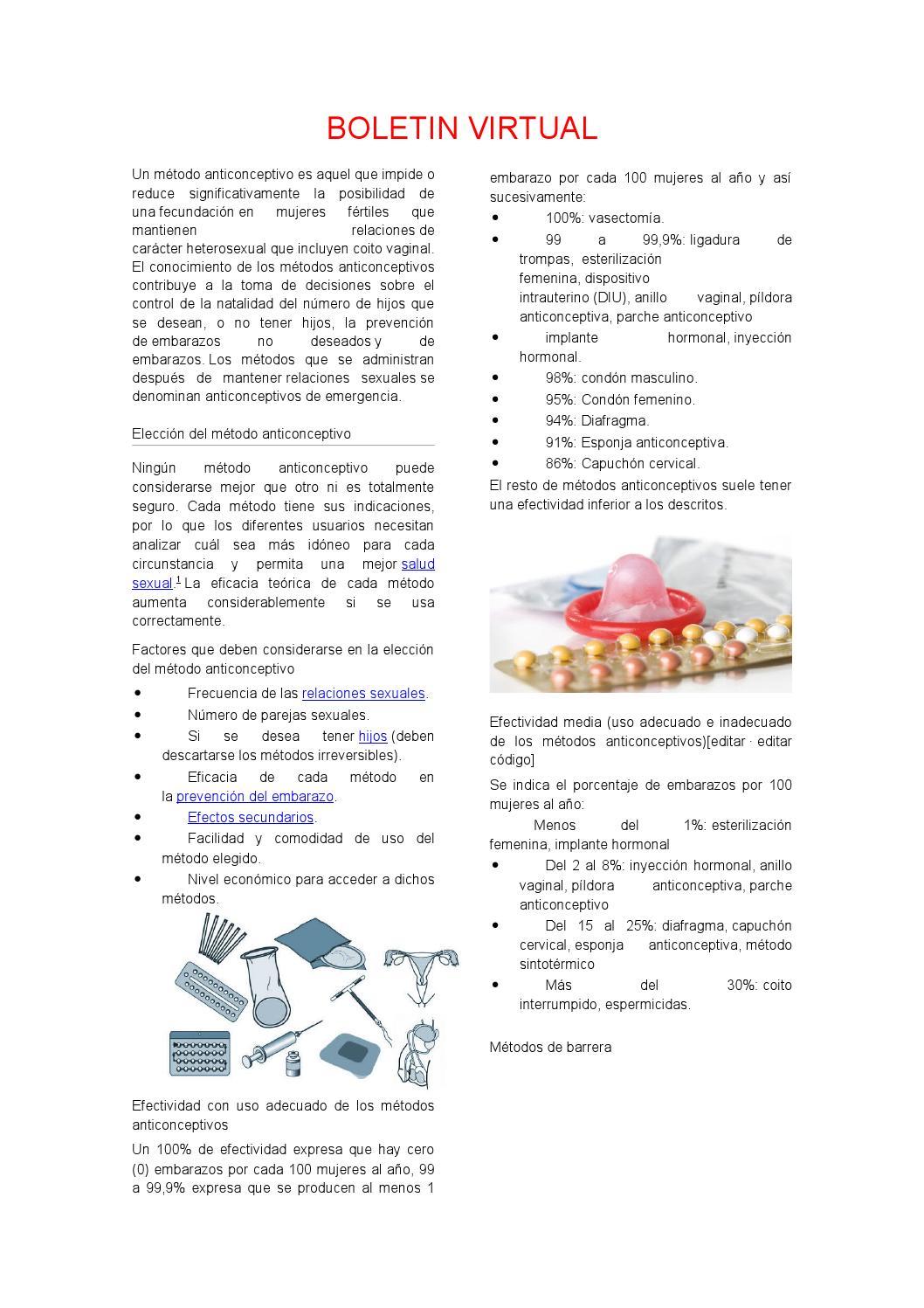 indicaciones y contraindicaciones de los espermicidas