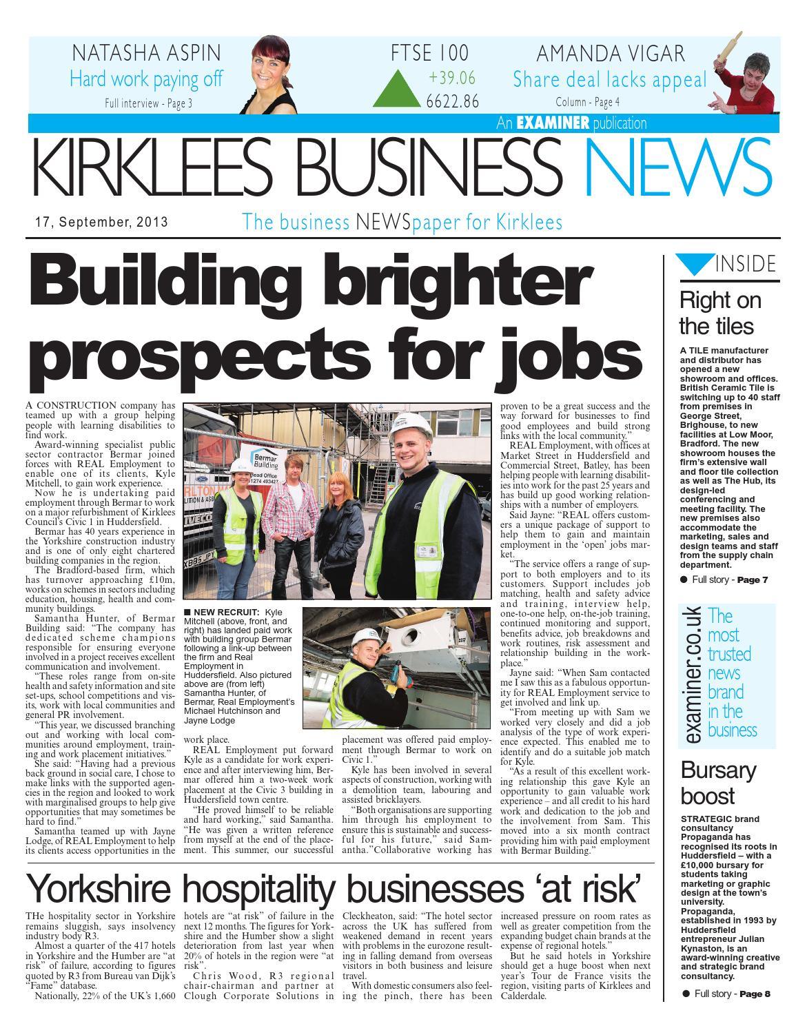 Kirklees Business News 17/09/13 by Huddersfield - issuu