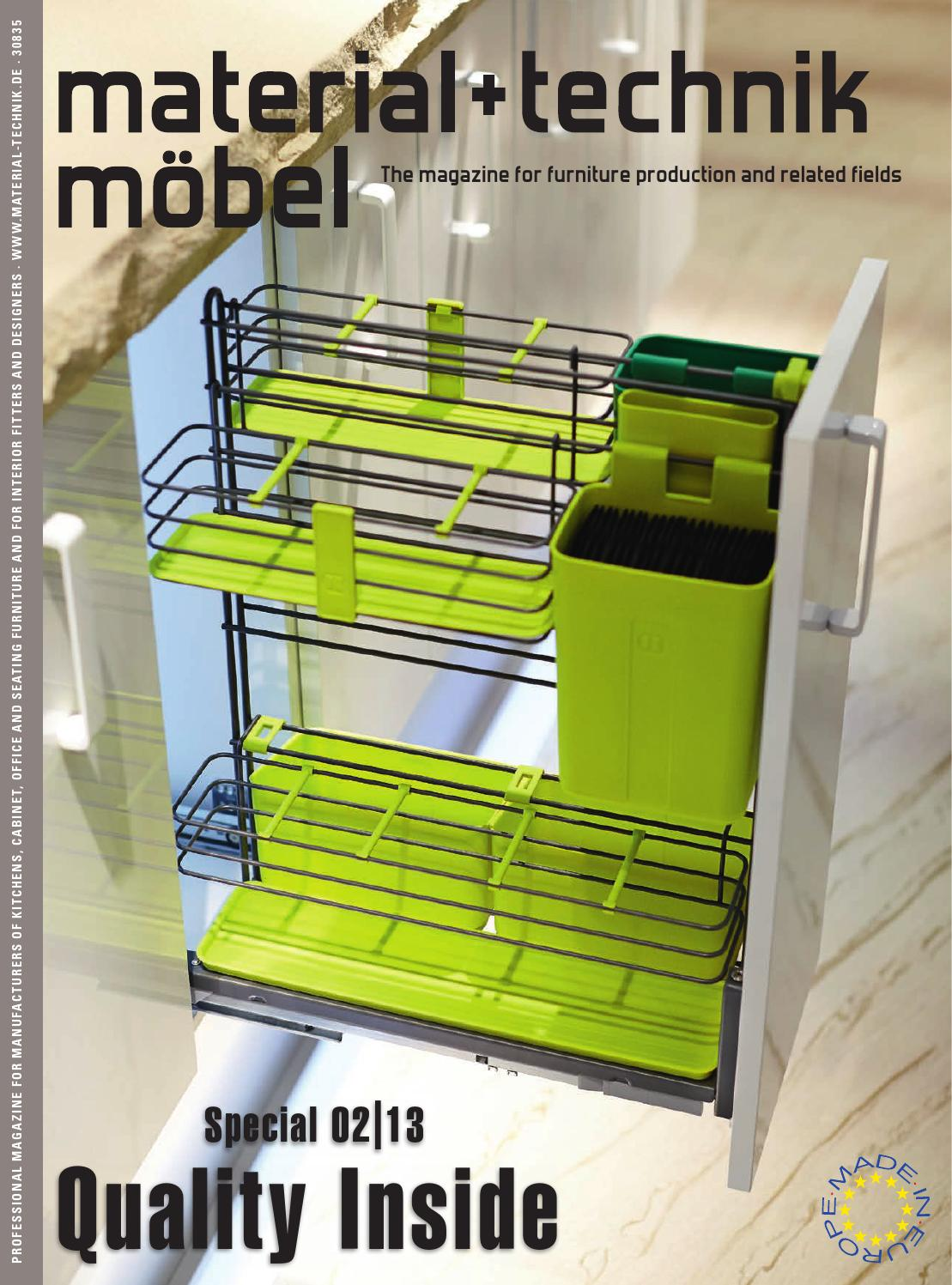 material + technik möbel Special 02/2013 - Quality Inside by ...