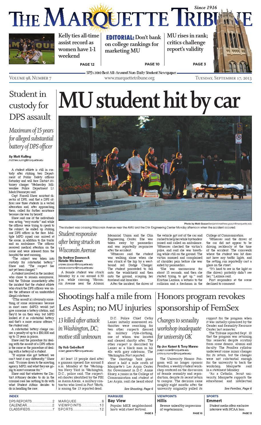 a79f3e3a1b1 The Marquette Tribune | Sept. 17, 2013 by Marquette Tribune - issuu