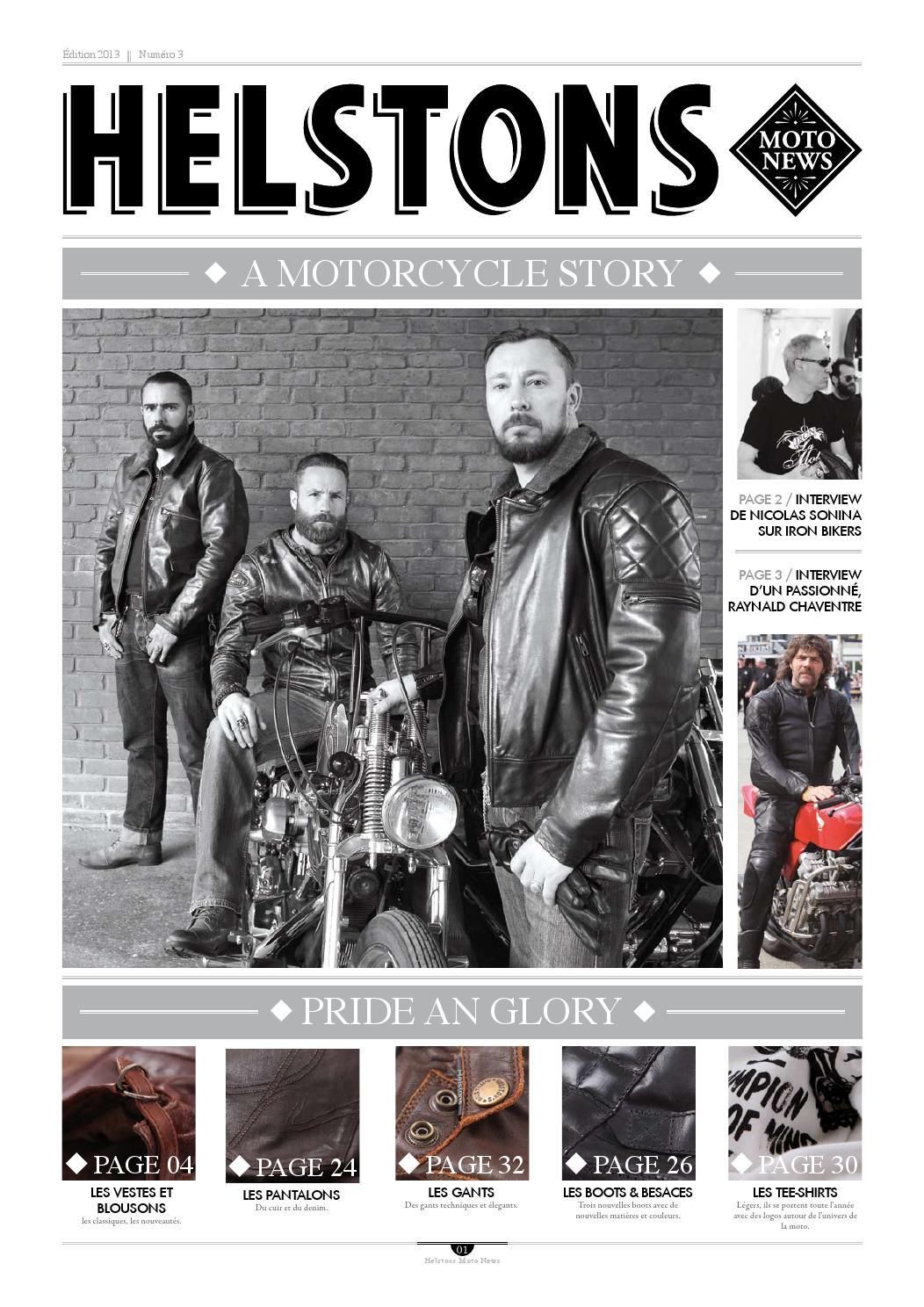 Bottes Moto Helstons Heritage Cuir Aniline Noir 45 Noir