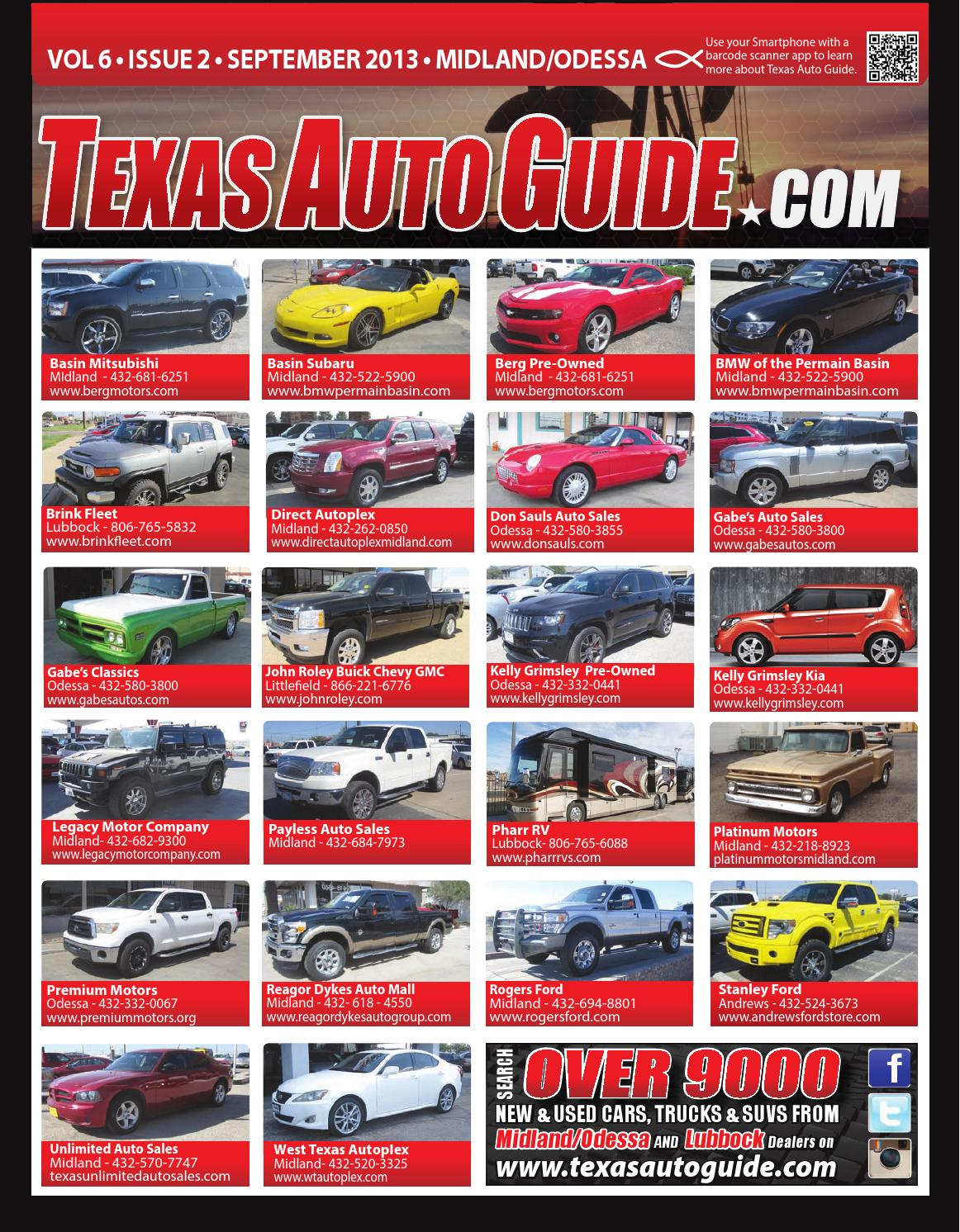 Texas auto guide midland odessa september 2013 by texas for Berg motors midland tx
