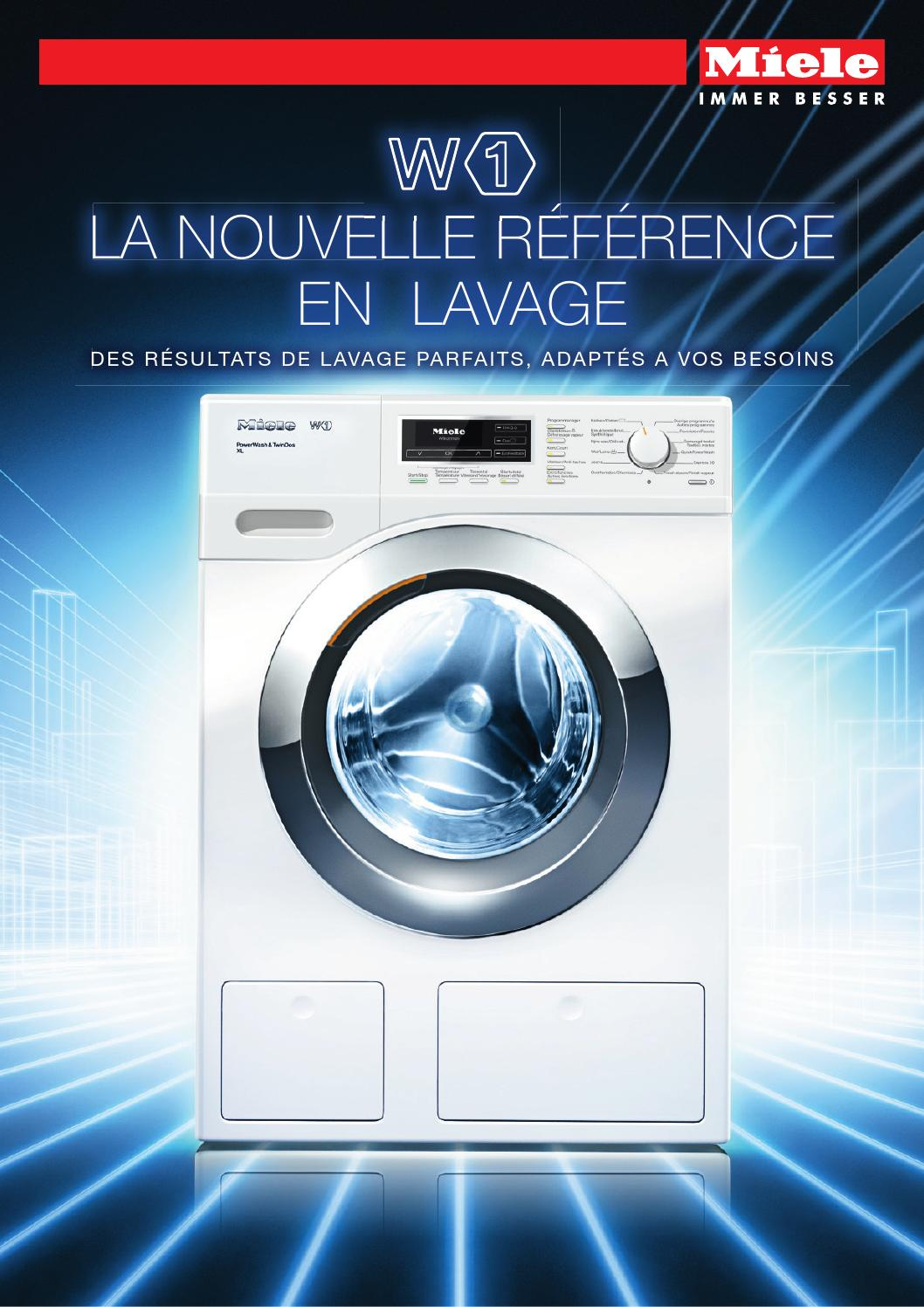 Machine À Laver Et Sèche Linge Intégré miele - brochure lave-linge et sèche-linge w1 et t1 - be