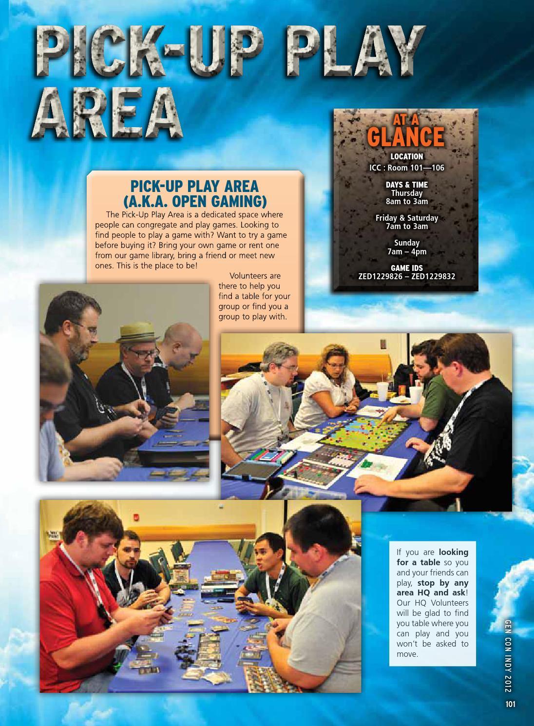 Gen Con Indy 2012 Program Book Part 2 by Gen Con LLC - issuu