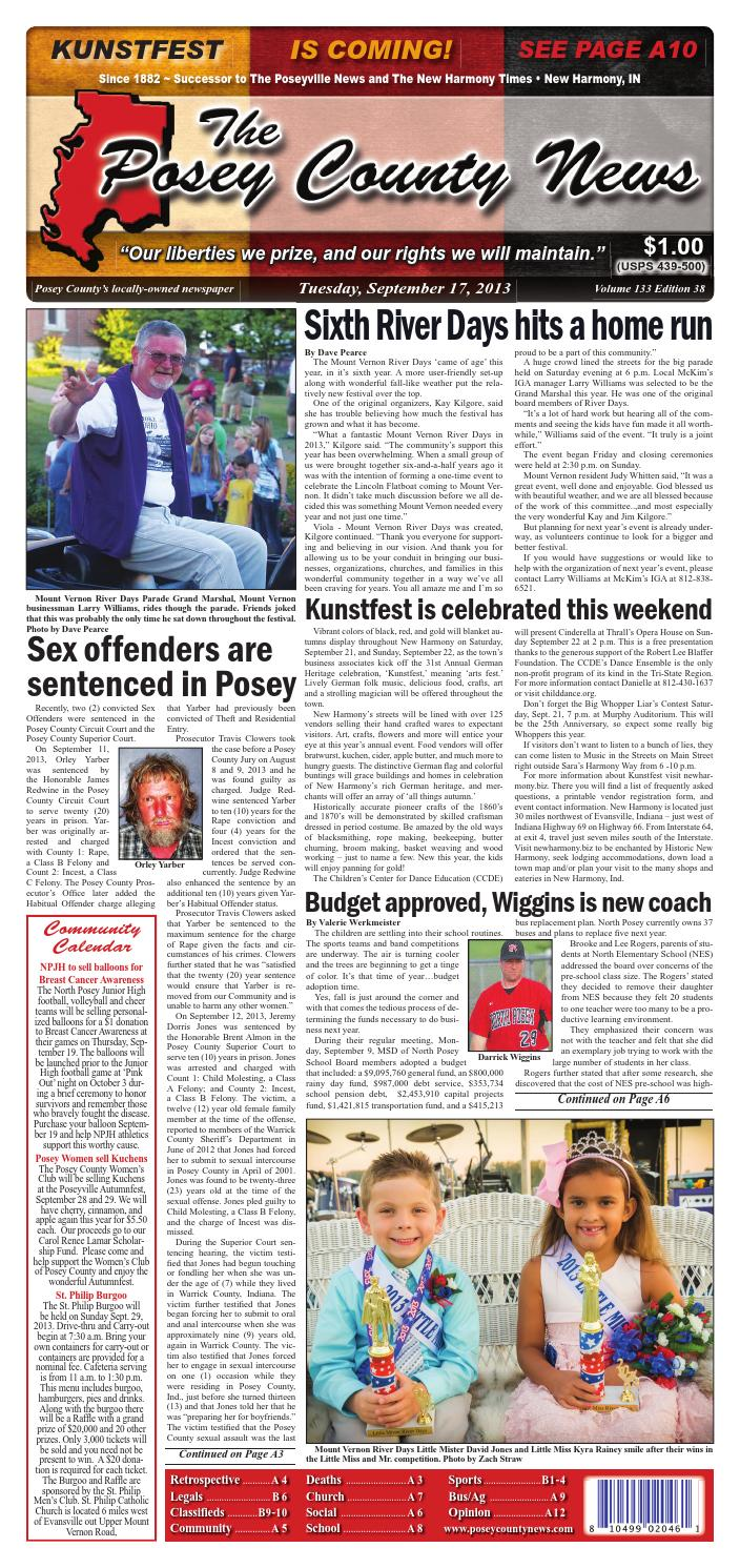 September 17 2013 The Posey County News By Circuits Greenan Alternative Energy Kit And Snap Extreme Issuu