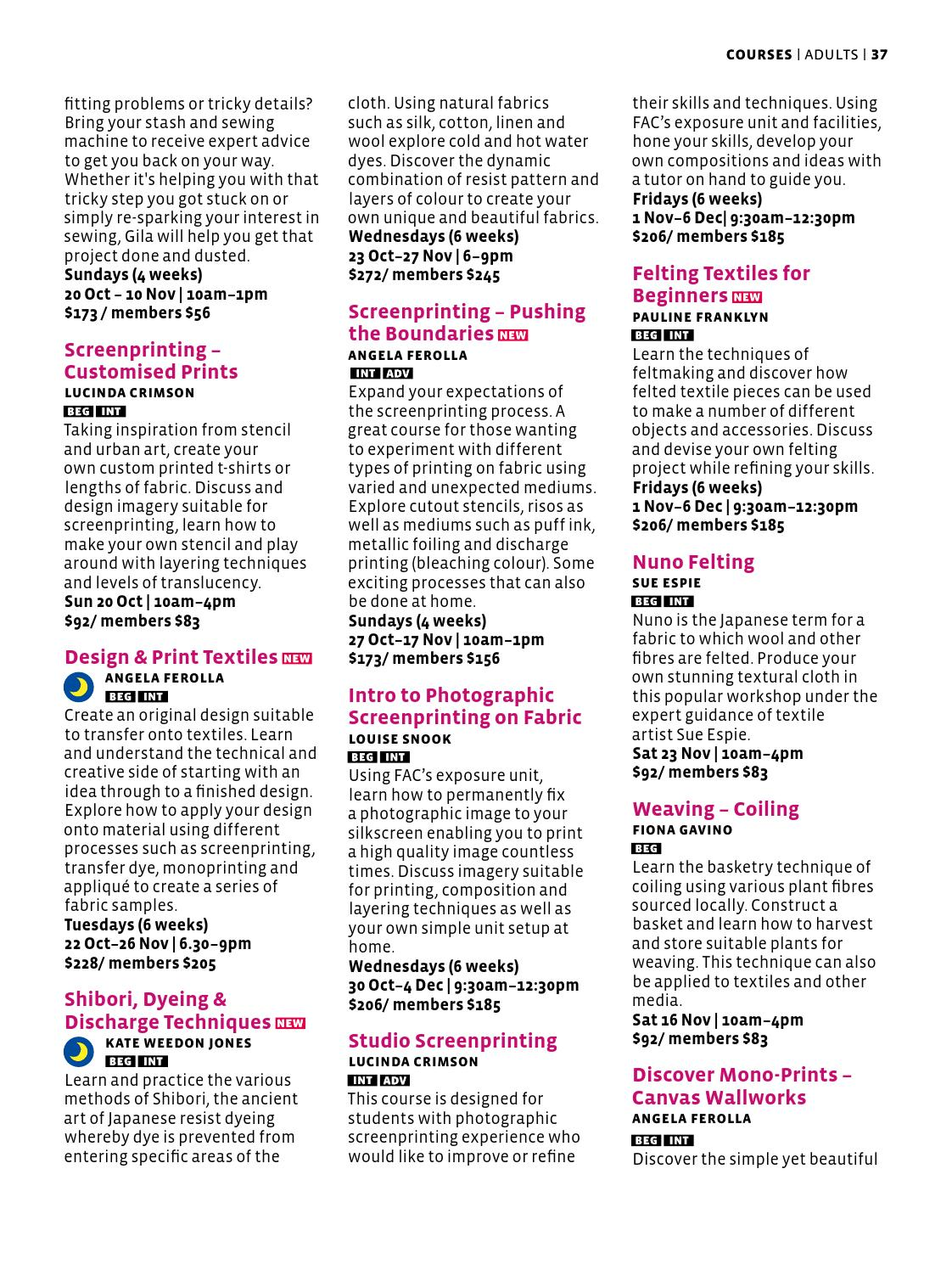 What's On at Fremantle Arts Centre October-December 2013 by