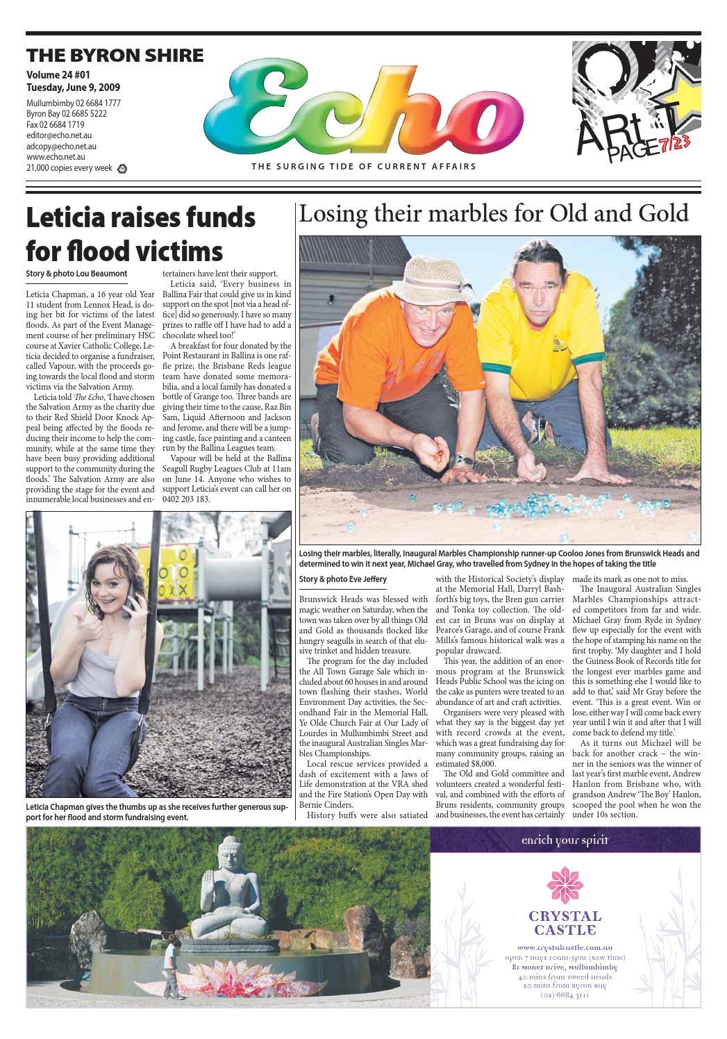 Byron Shire Echo – Issue 24.01 – 09/06/2009 by Echo Publications - issuu