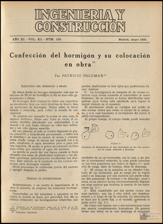 Revista Ingenieria y Construcción (Mayo,1933) by FUNDACIÓN JUANELO ...