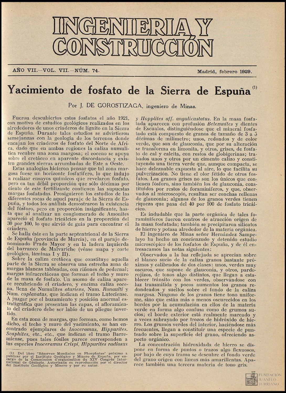 Revista Ingeniería y Construcción (Febrero,1929) by FUNDACIÓN ...