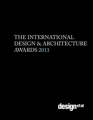b3405aa04a6 The International Design   Architecture Awards 2013 by design et al ...
