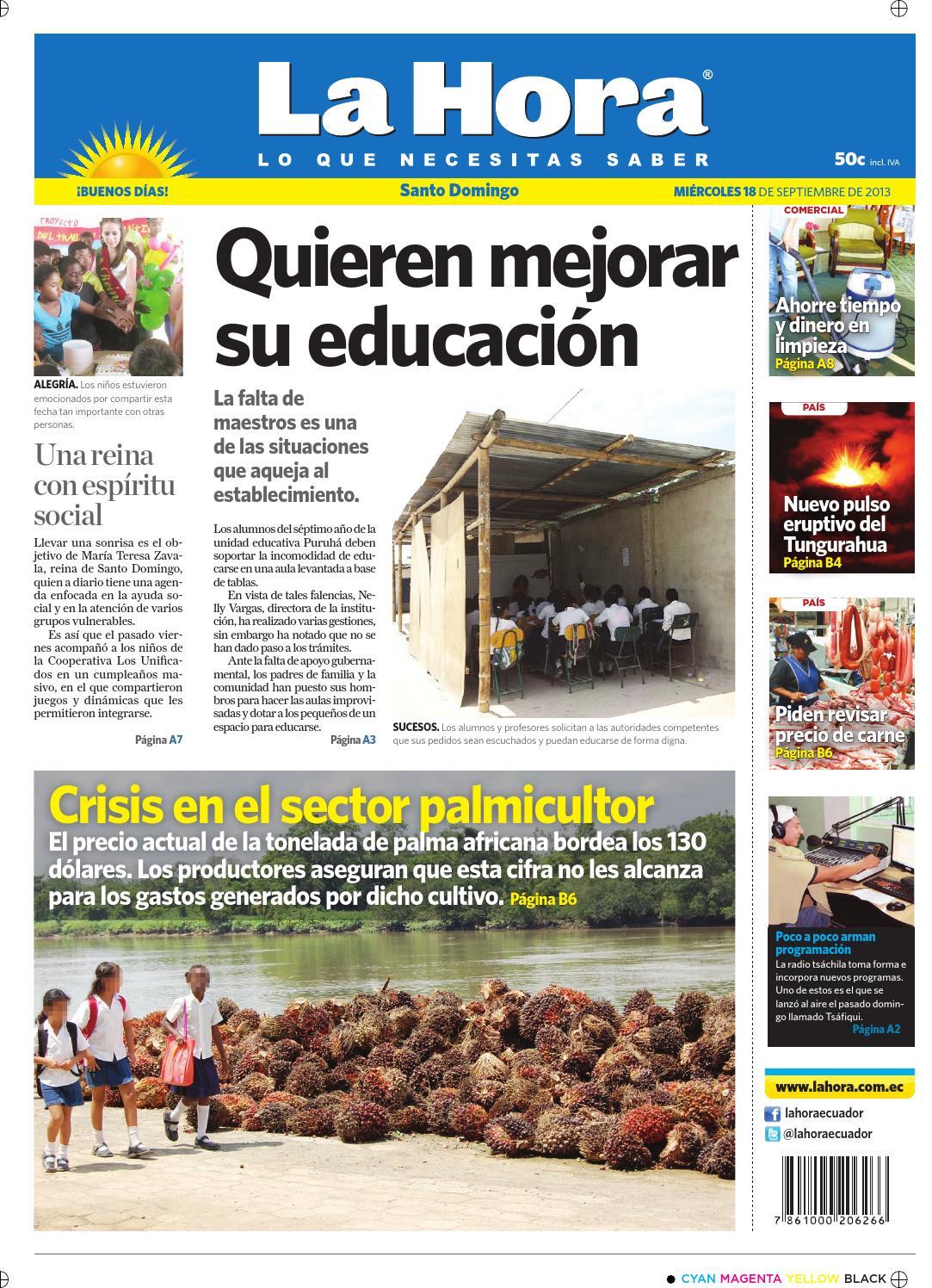 Muebles Viktoria Guayaquil - La Hora Santo Domingo 18 Septiembre 2013 By Diario La Hora Ecuador [mjhdah]https://image.isu.pub/171118020811-d80d91559046e0f59ef7f936af7b74fd/jpg/page_1.jpg