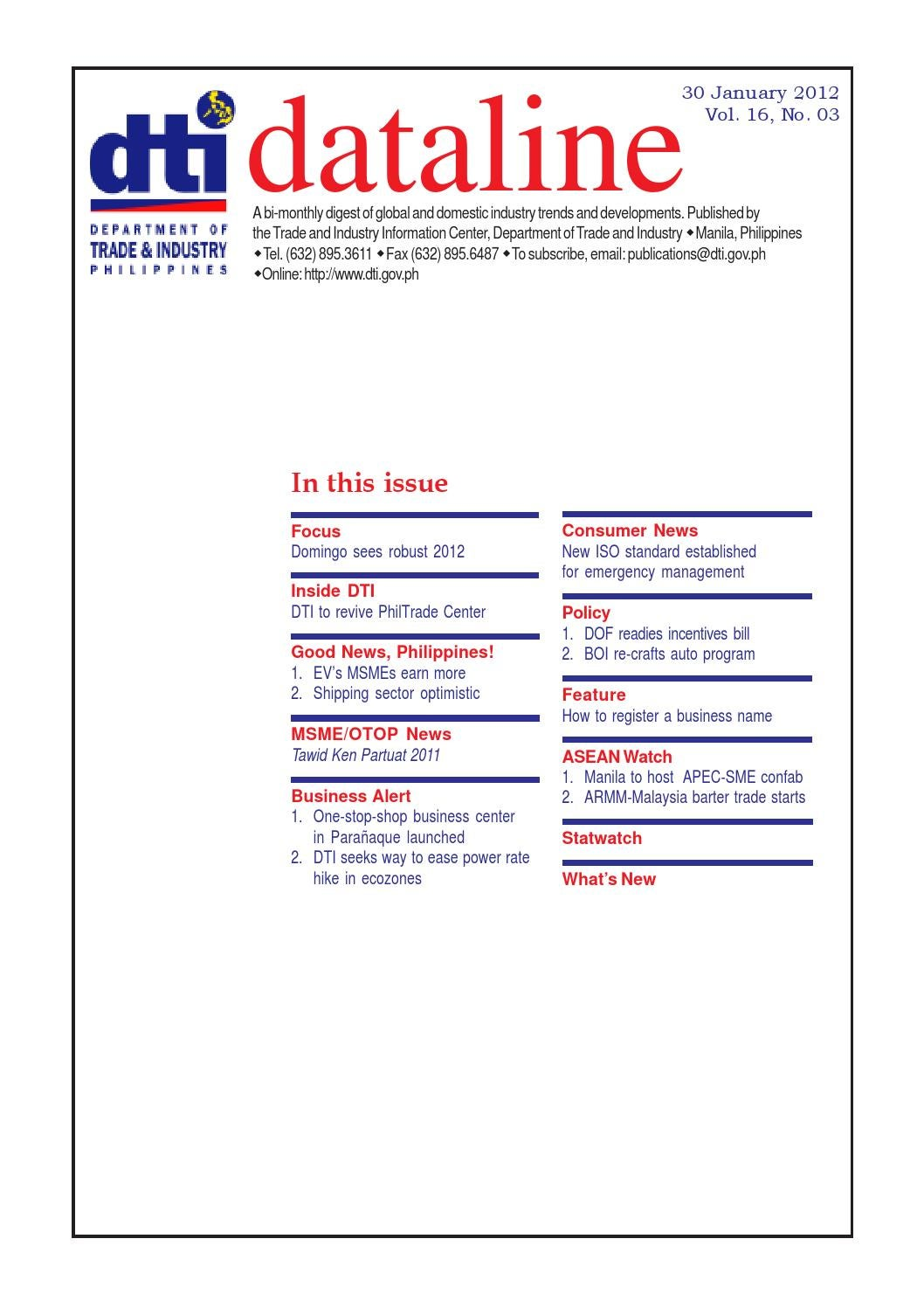 Dataline 03 (2012) by Department of Trade and Industry - issuu
