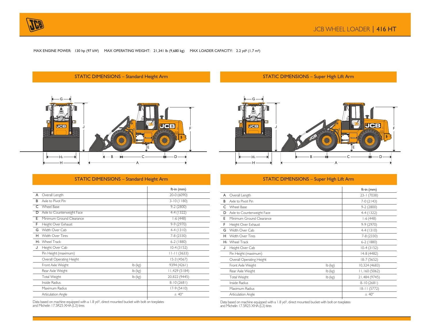 Jcb 416b Wiring Schematic Trusted Schematics Diagram 214 Loader Backhoe 416 Ht Spec Sheet Us Mar 2013 By North America Issuu Ford Car Diagrams