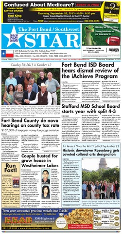 September 18, 2013 - Fort Bend Community Newspaper by Fort