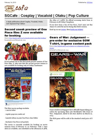 SGcafe Anime News For Otaku Feb 2013 Issue
