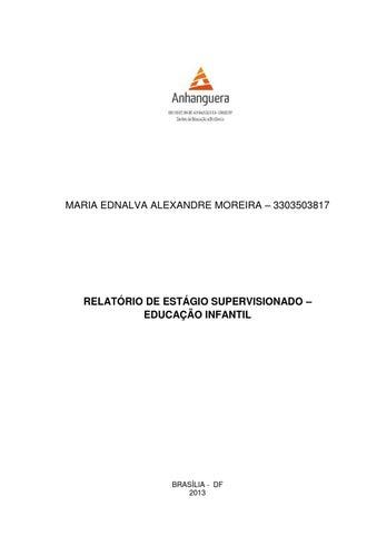 Relatório De Estágio Educação Infantil 2013 By Thalita