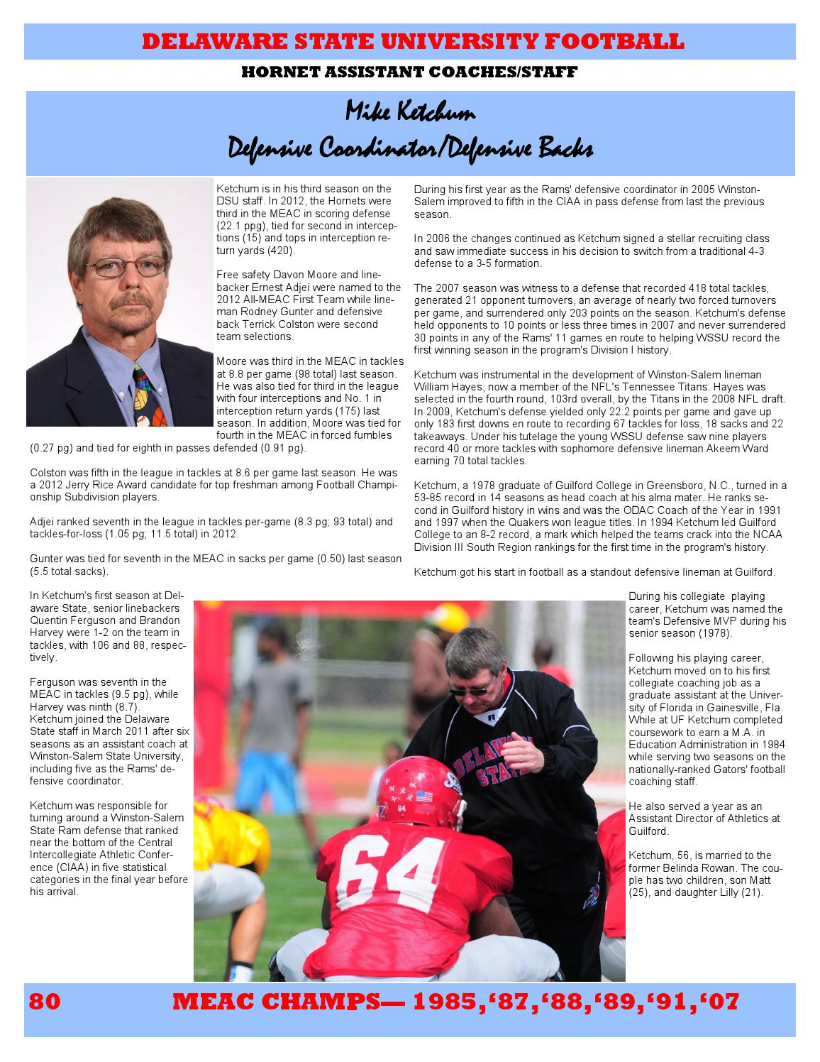 2013 Delaware State Football Media Guide by DSU Athletics