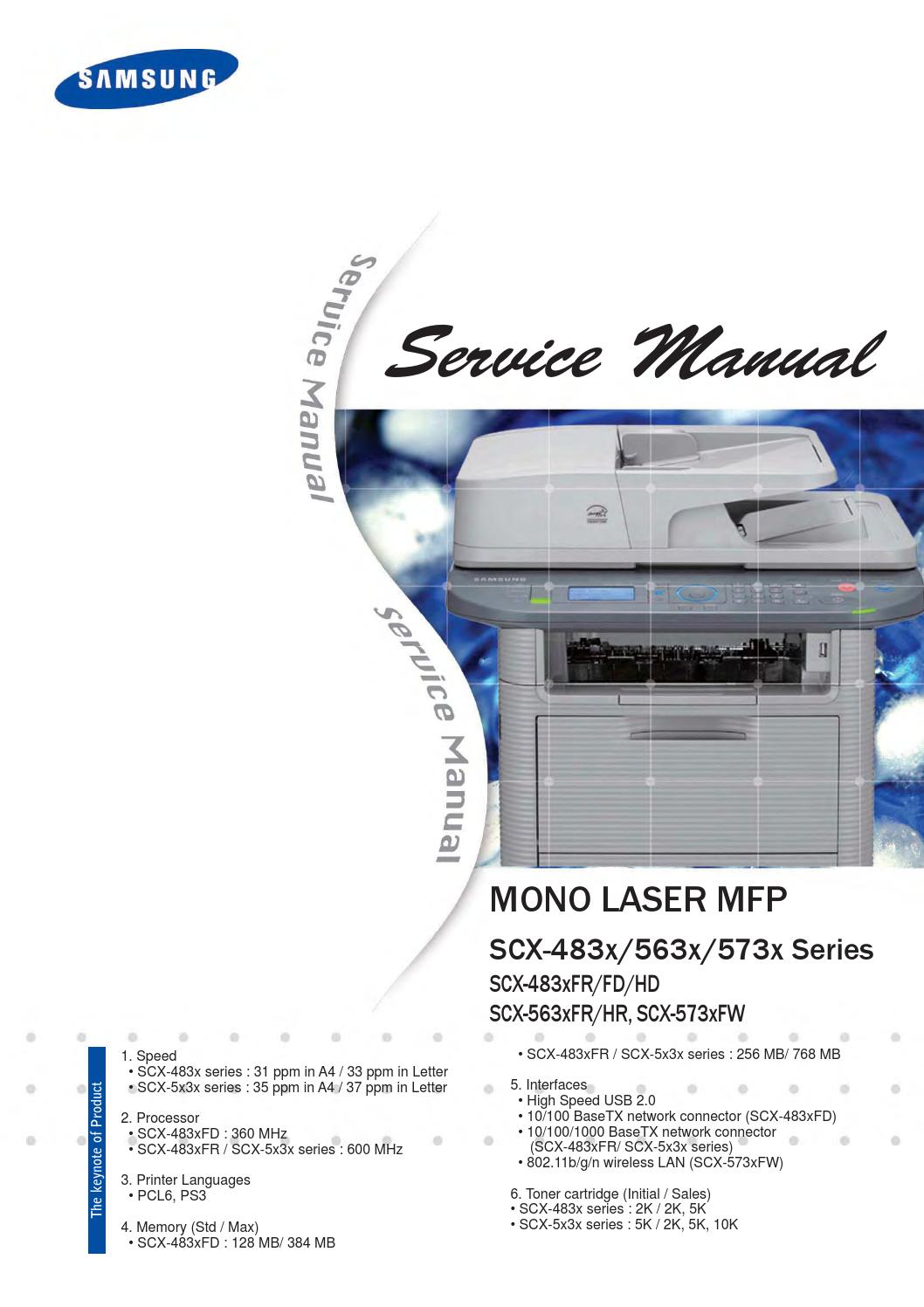 Service Manual Scx 5x3x 483x 130404 Manual De Servicio 5637 By Alex Issuu