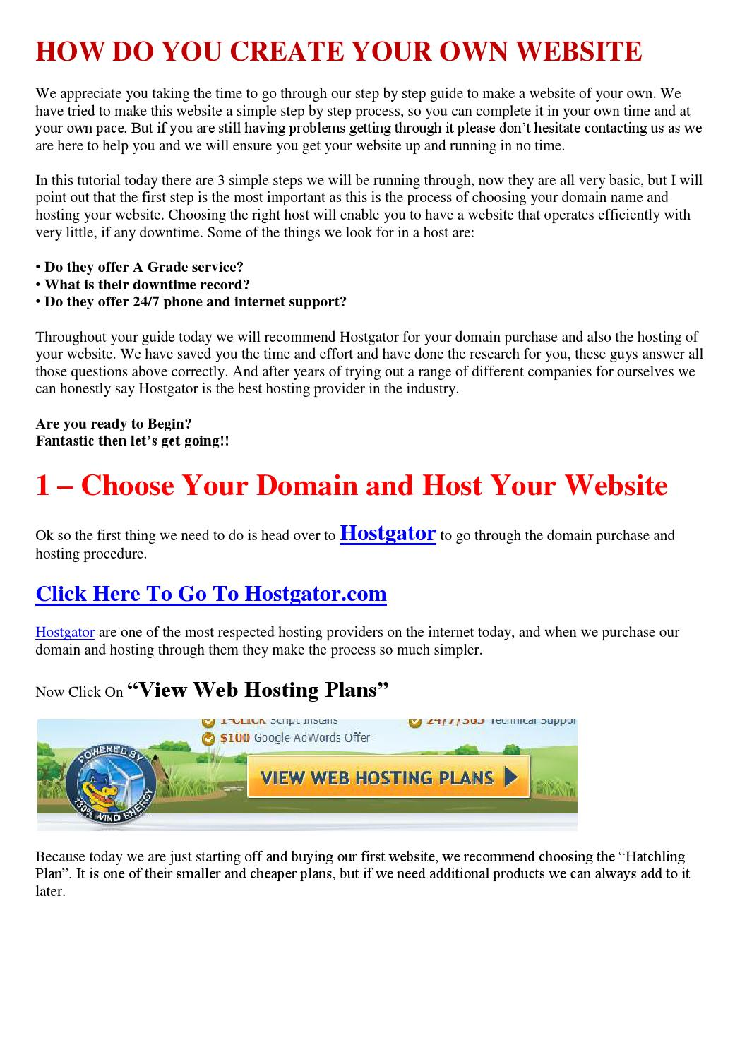 How Do You Create Your Own Website By Nanse Break Issuu