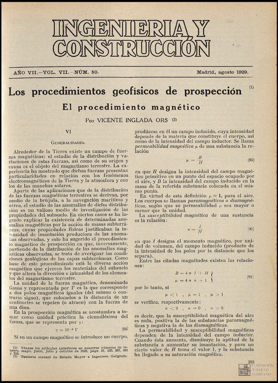 Revista Ingeniería y Construcción (Agosto,1929) by FUNDACIÓN JUANELO ...