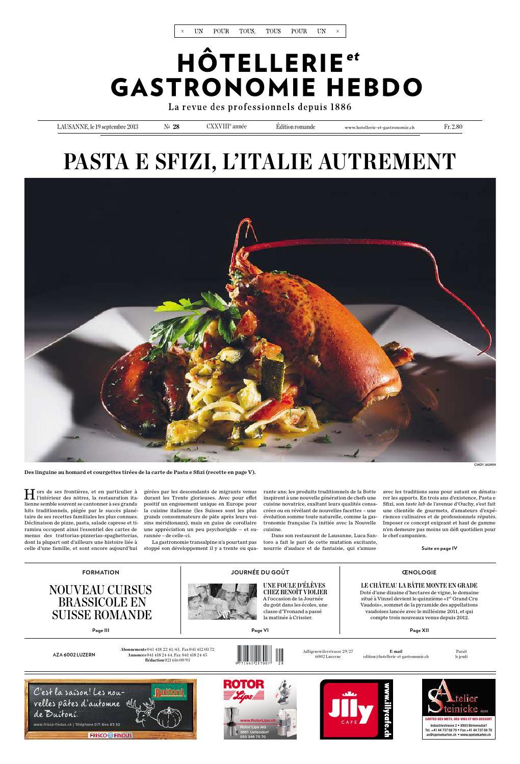 HetG-Hebdo 28/2013 by Hotellerie_Gastronomie_Verlag - issuu