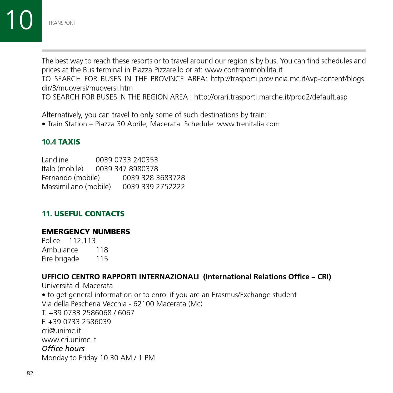 Internationalstudentguide unimc 13 14 by Università degli