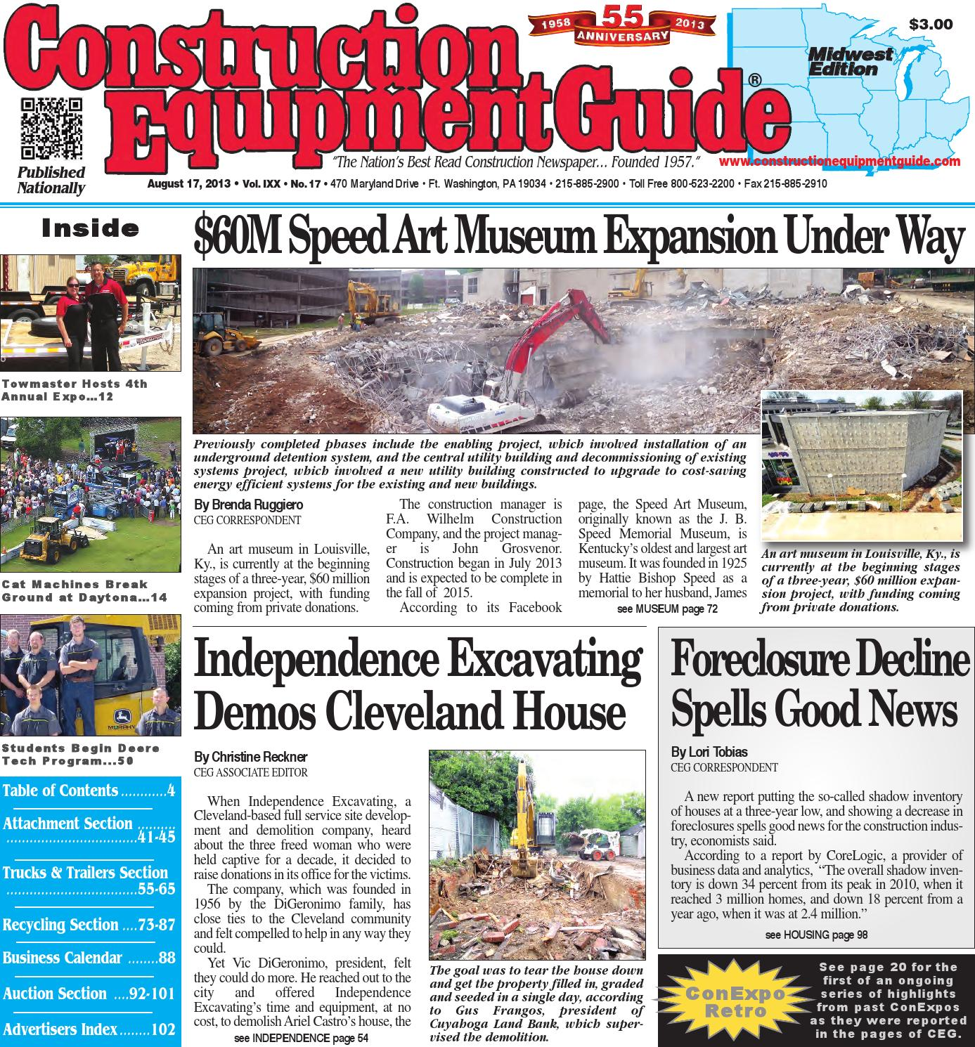 Midwest 17 2013 By Construction Equipment Guide Issuu Dynamicdiscsdyemaxmarvelironmanbluecircuit