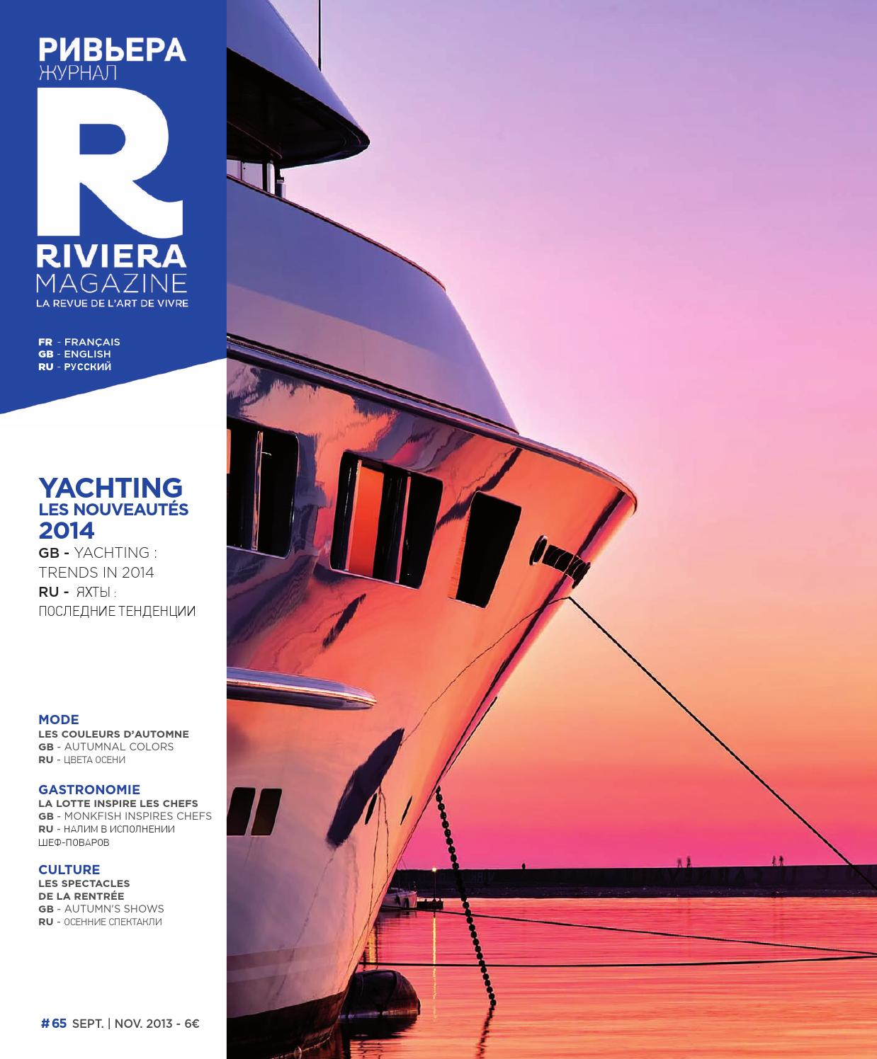 Riviera Magazine n°65 - sept 2013 by Riviera Magazine - issuu 153367d7ee0