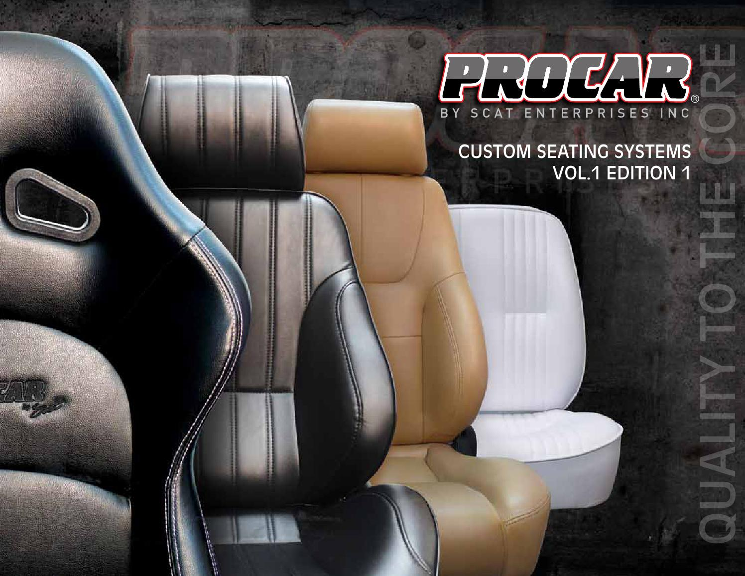 ProCar by Scat 80-1605-64R SPORTSMAN Red Vinyl//Velour Right Racing Seat
