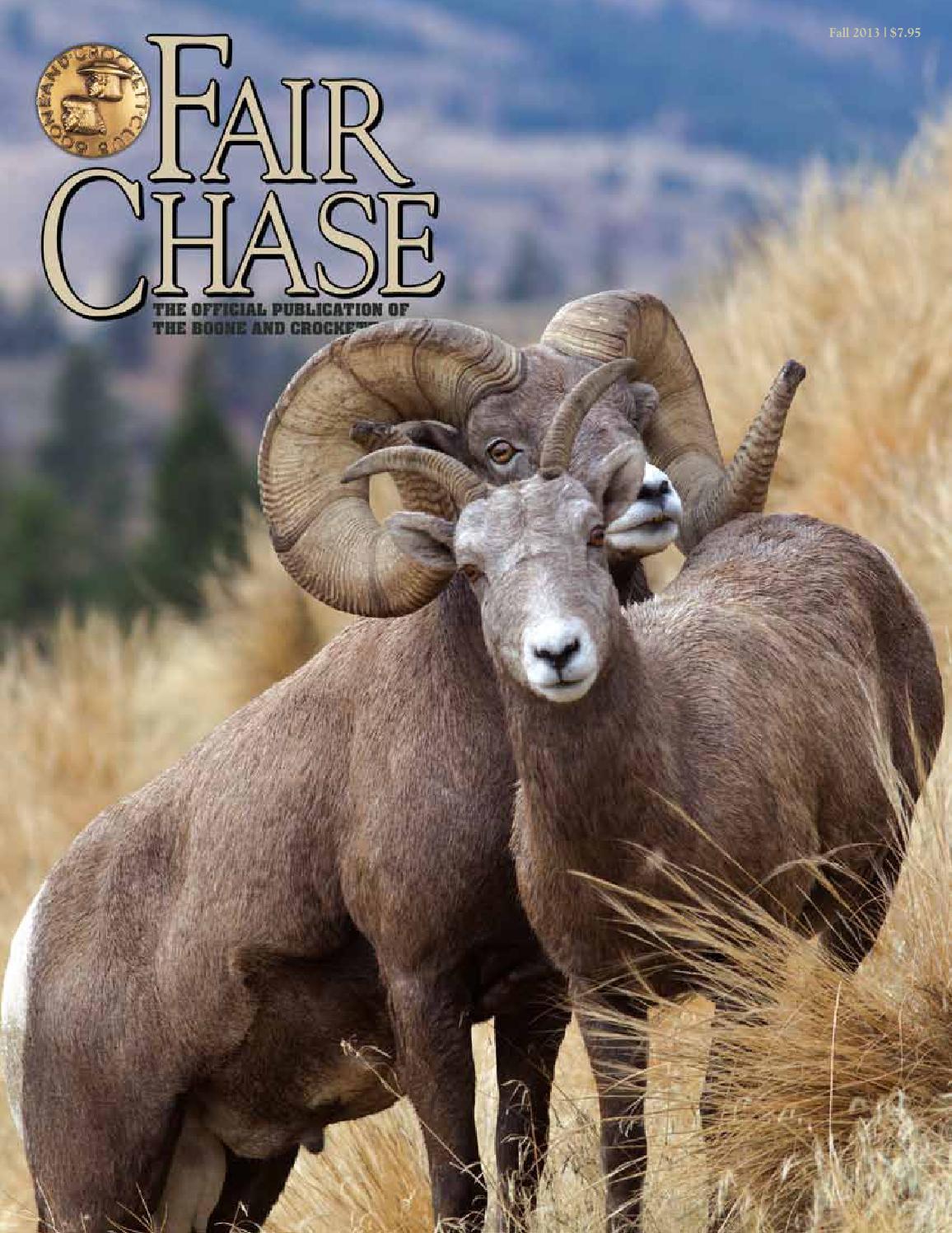 Fair Chase Fall 2013 by Boone and Crockett Club - issuu
