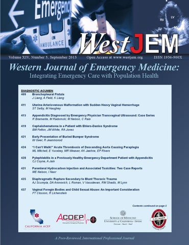 volume 14 issue 5 by western journal of emergency medicine issuu