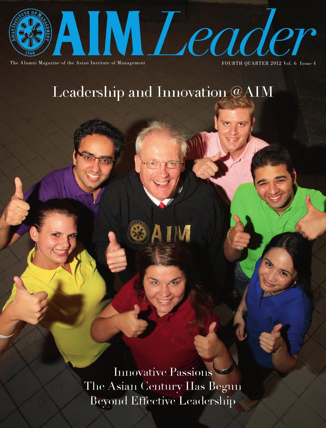 AIM Leader 4th Quarter 2012 by AIM Alumni Publication - issuu