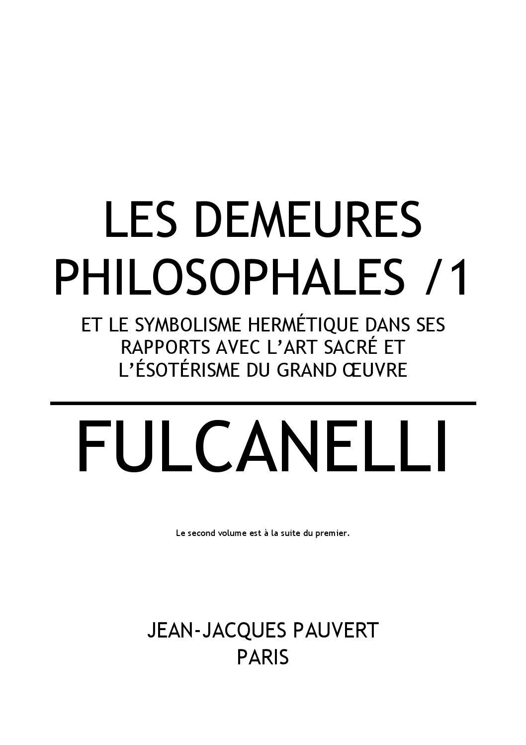Fulcanelli les demeures philosophales clan9 bibliothèque ...