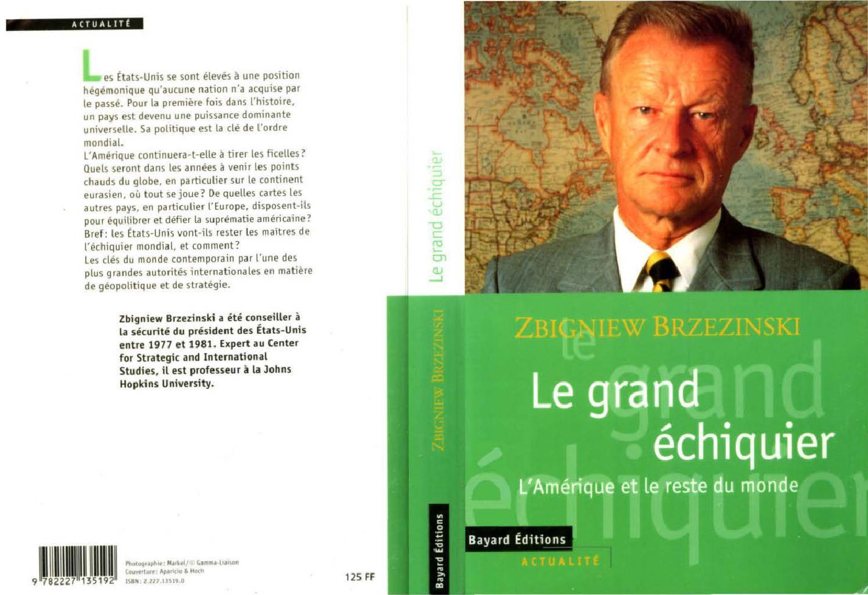 Le grand échiquier – Zbigniew Brzezinski