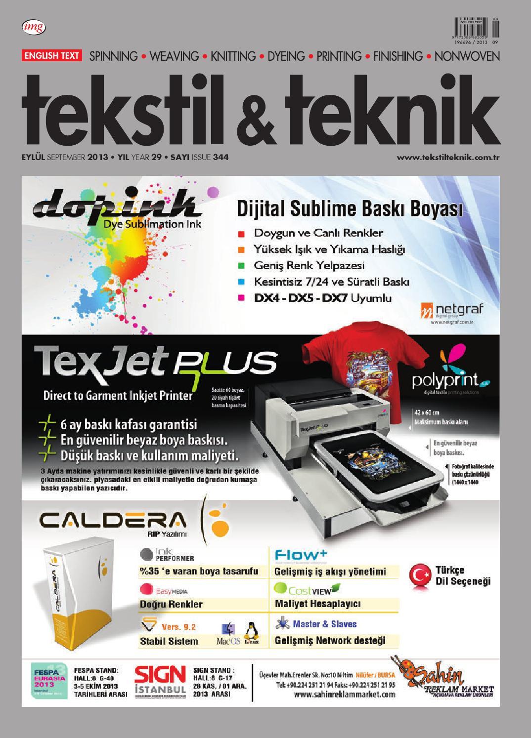 Tekstil Teknik Eylul 13 By Tekstil Teknik Issuu