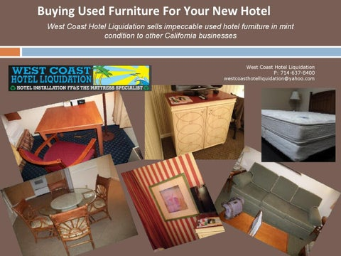 Buying Used Furniture For Your New Hotel By Westcoasthotel