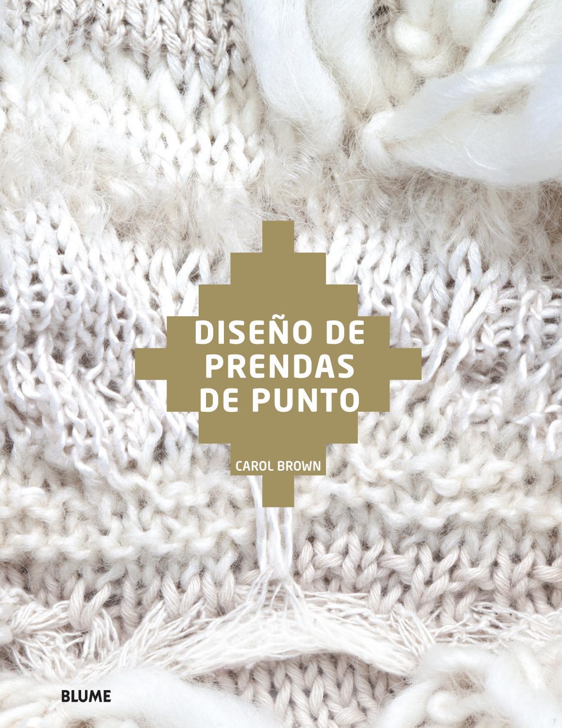 Diseño de prendas de punto by Editorial Blume - issuu