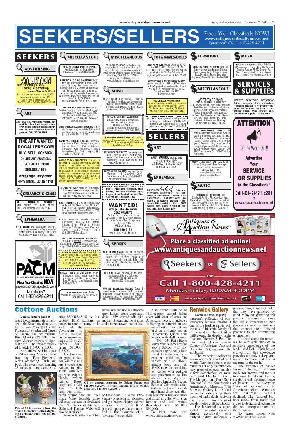 Antiques & Auction News 092713 by Antiques & Auction News