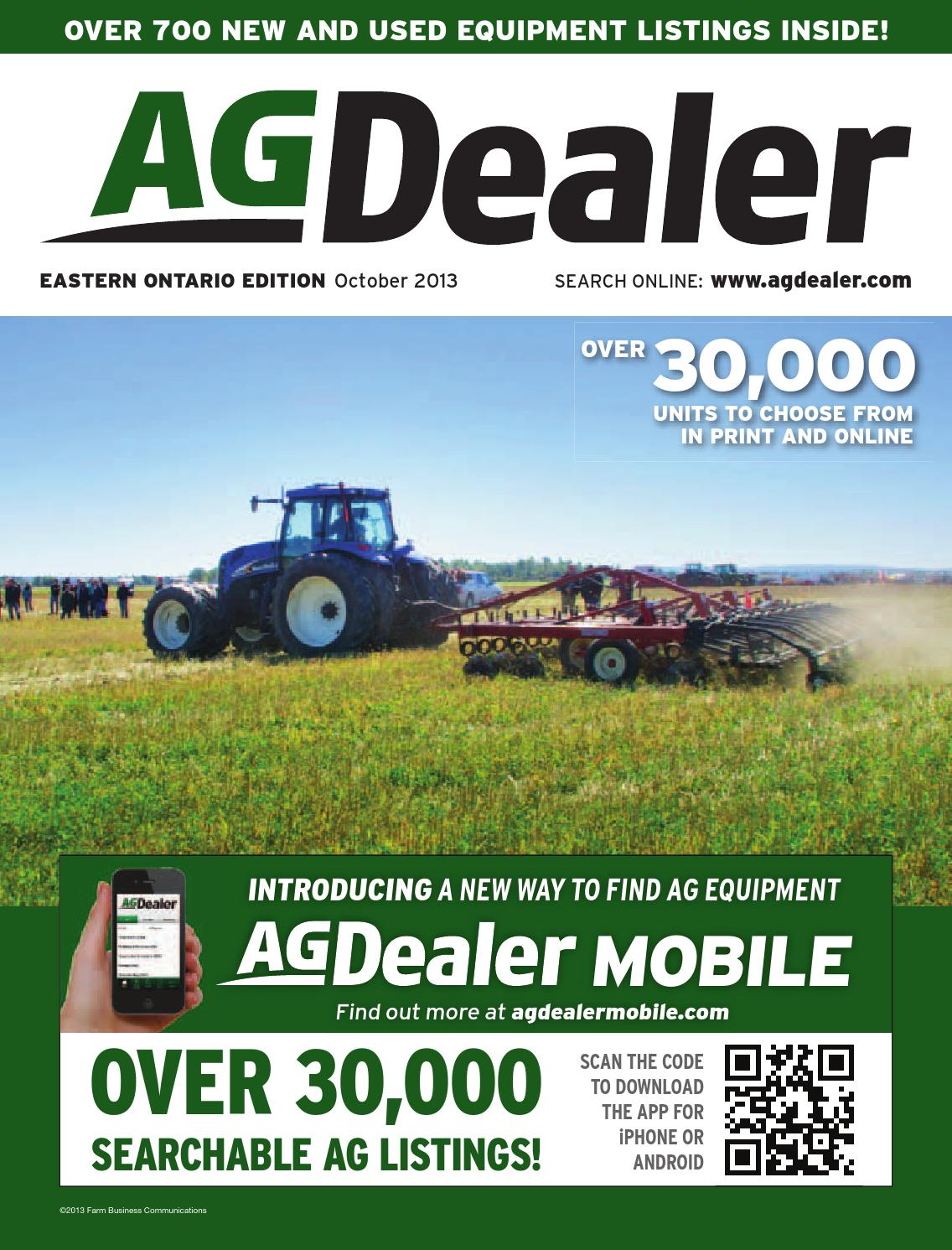 AGDealer Eastern Ontario Edition, October 2013 by Farm Business  Communications - issuu
