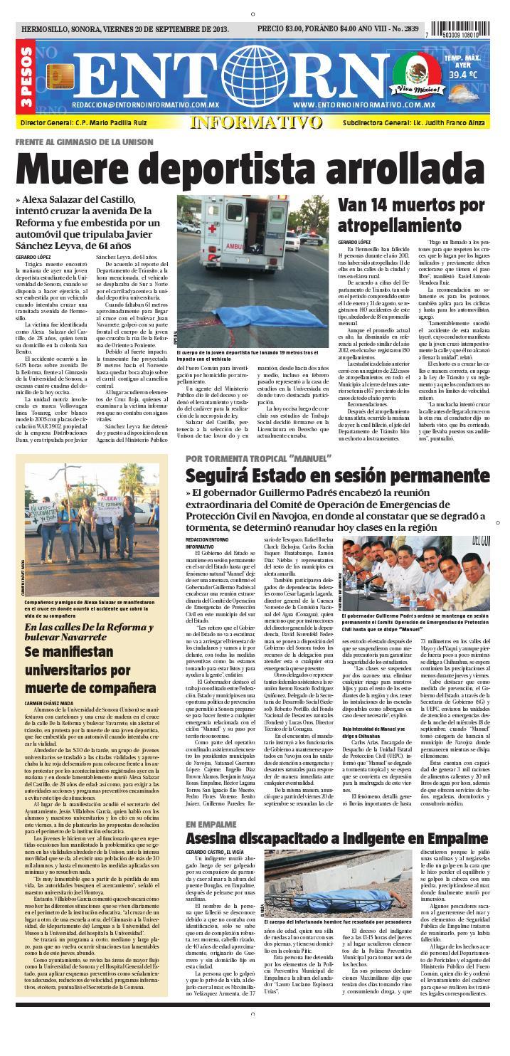 20 de septiembre del 2013 by Entorno Informativo hermosillo - issuu