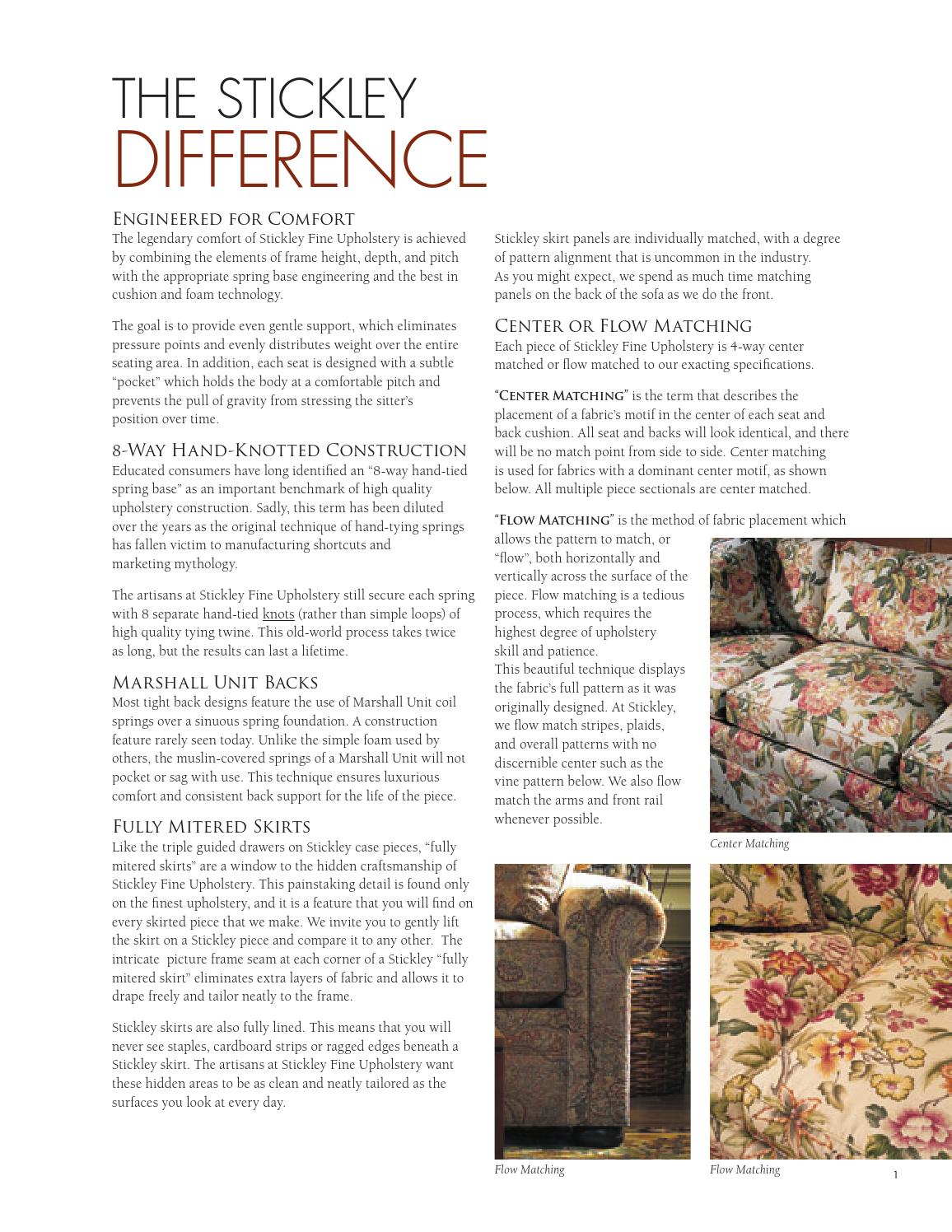Stickley Fine Upholstery & Leather Collection by Stickley