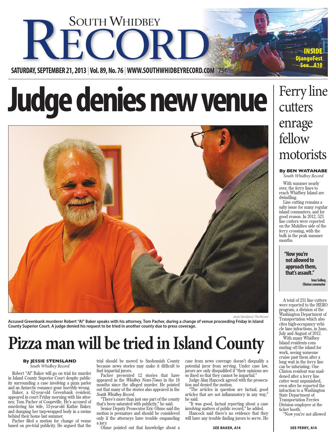 South Whidbey Record, September 21, 2013 by Sound Publishing