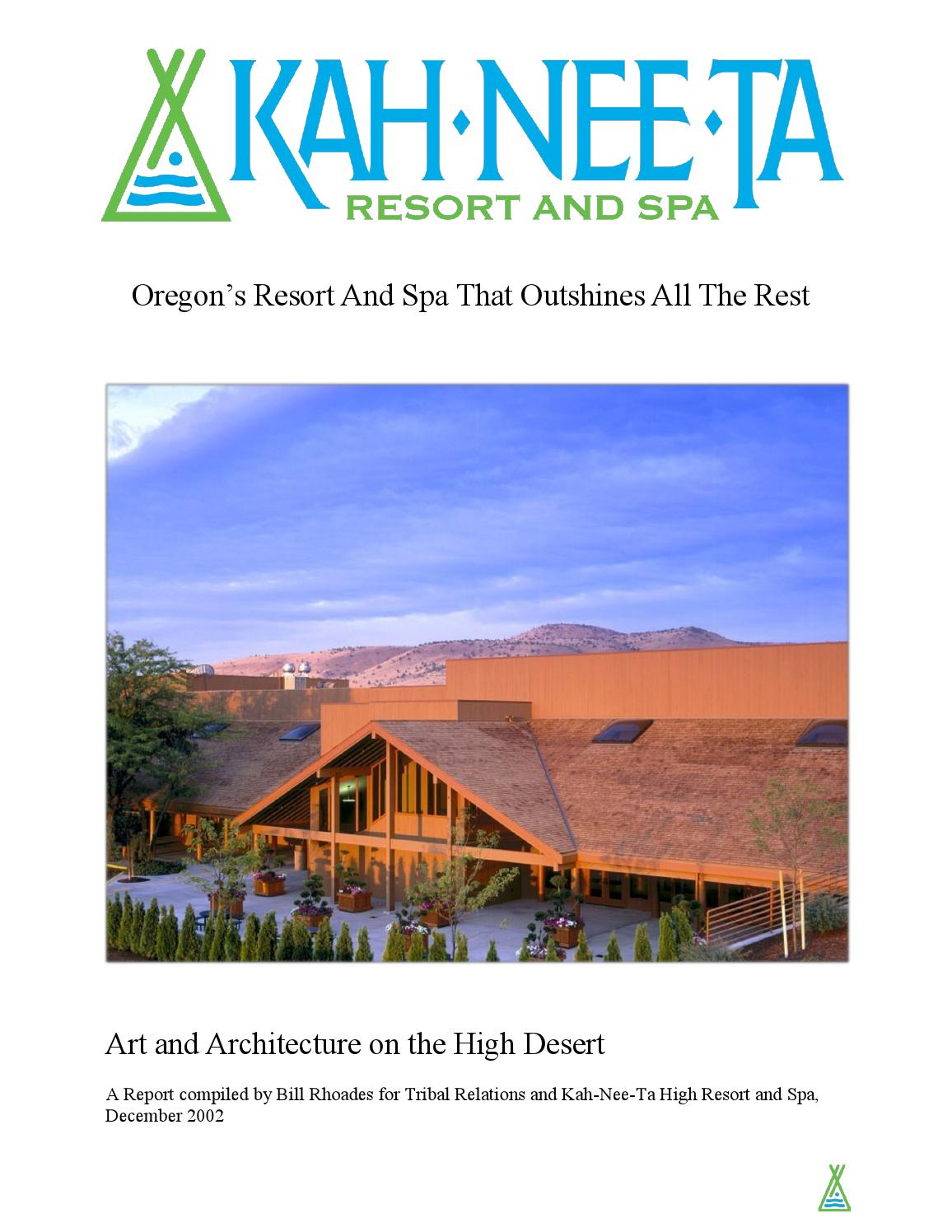 Kahneeta Resort and Spa by Kahneeta Resort - issuu