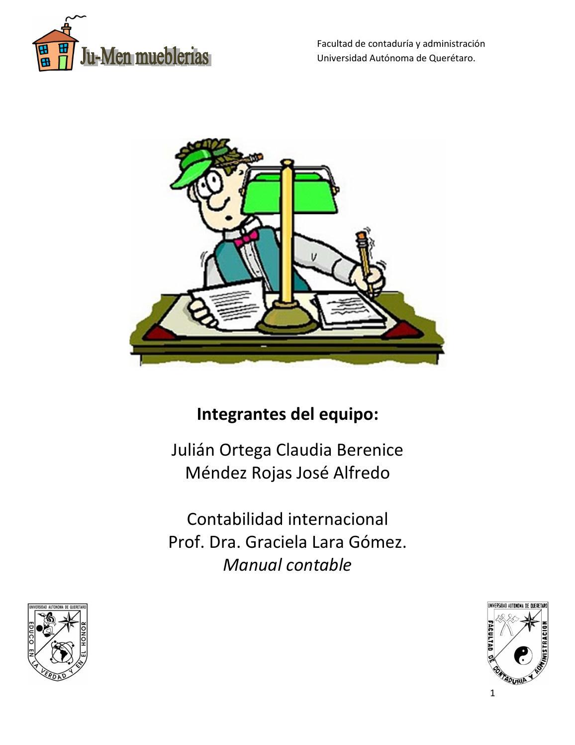 Trabajo Manual Contable Y Catalogo De Cuentas By Claujulian