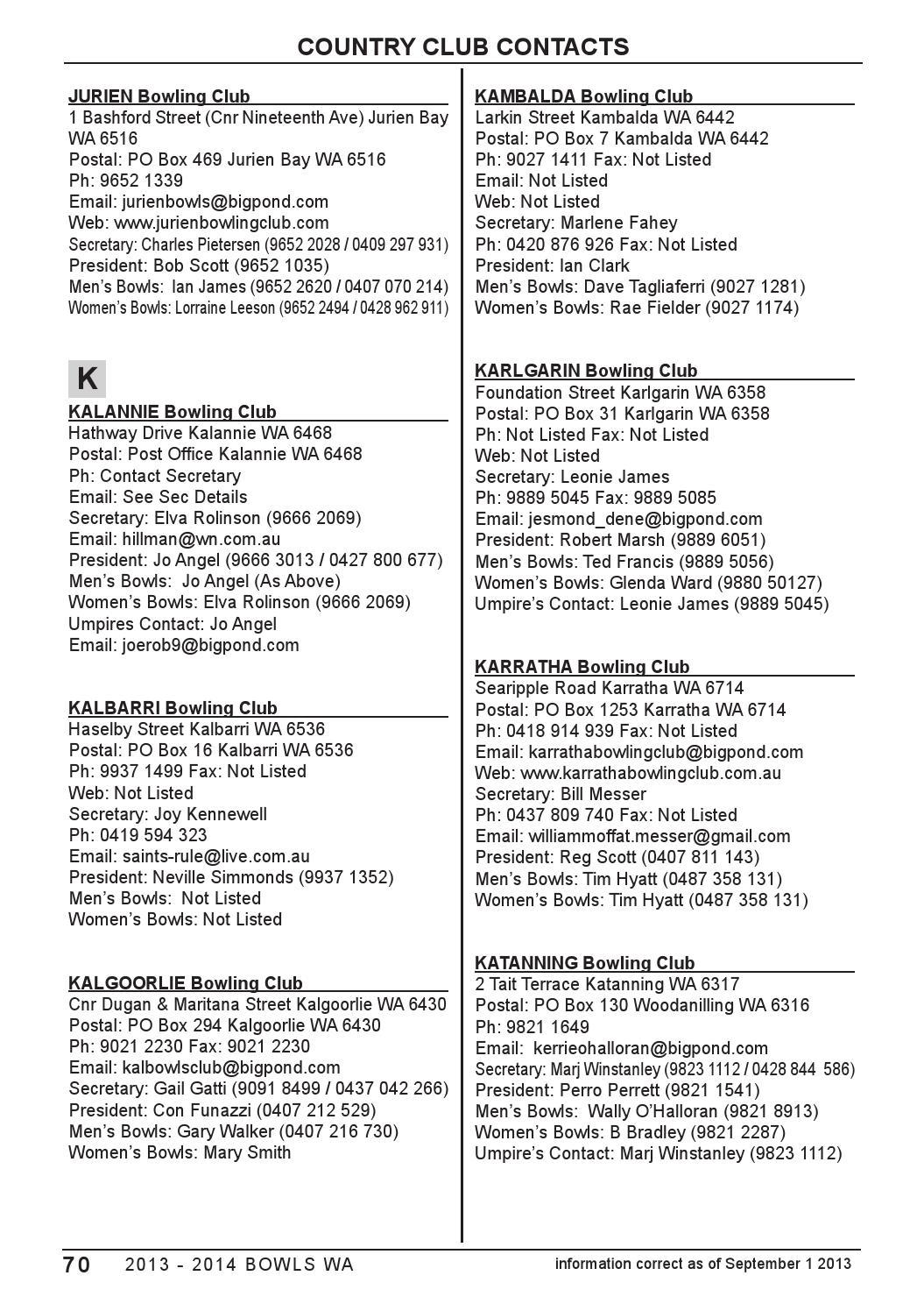 Bowls WA Handbook 2013 2014 by Bowls WA - issuu